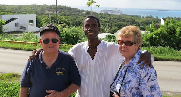Lloyd Glick and Judy with Saipan tour guide Walt Goodridge