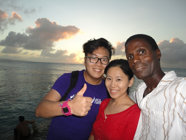 [photo of Jermaine and Nikki on Saipan]