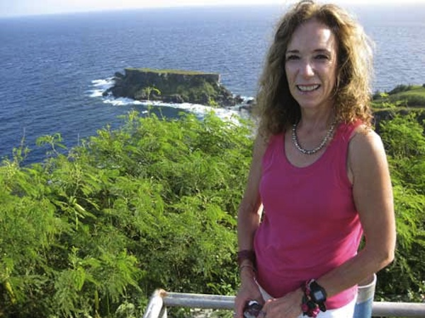 [photo of suzanne on saipan]