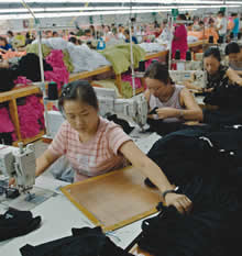 Saipan factory workers